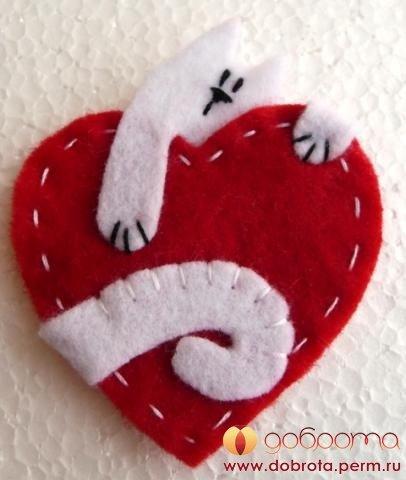 Магнитики своими руками на день святого валентина