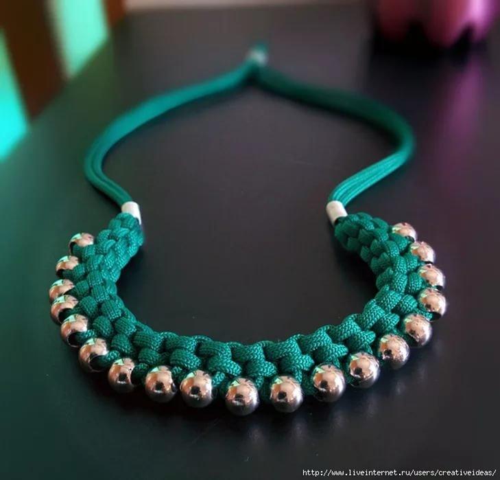 Бусы колье ожерелье своими руками