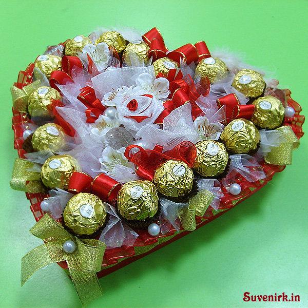 Как сделать подарок из конфет