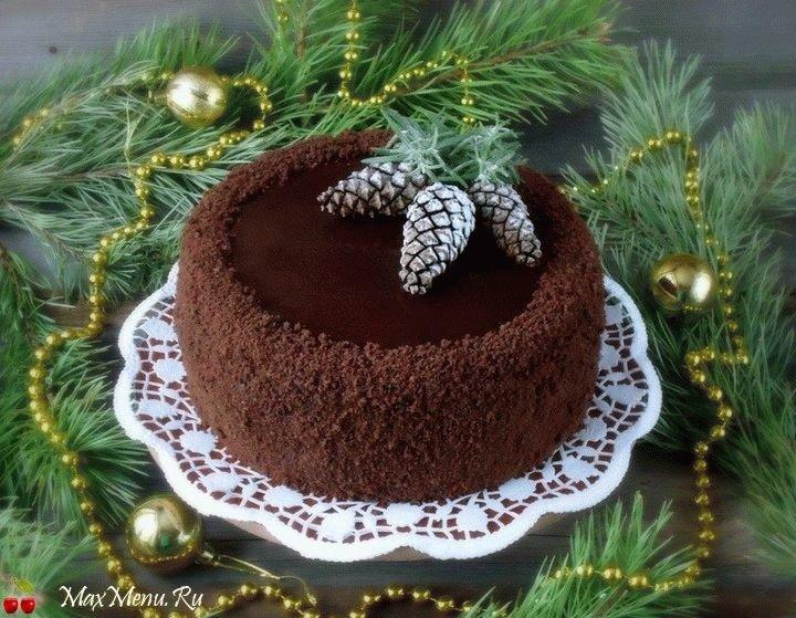 Дизайн новогоднего торта фото