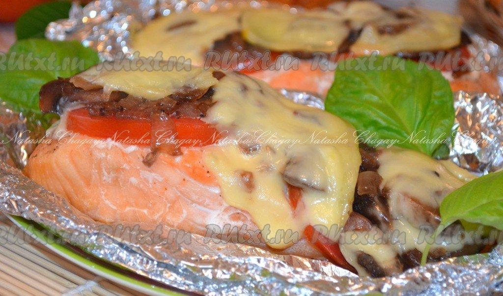 Семга в духовке с сыром в фольге рецепт с