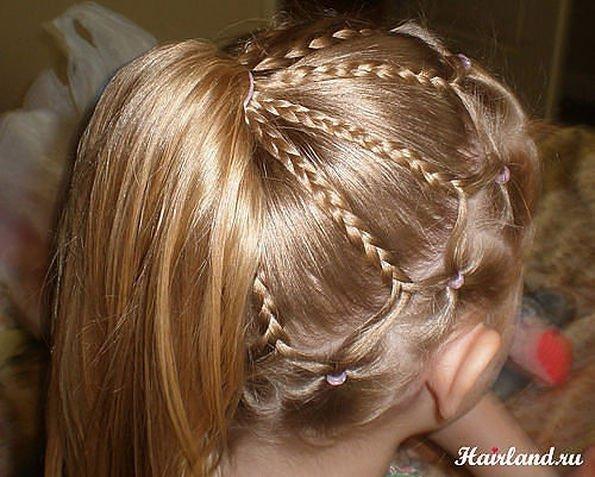Причёски на длинные волосы для девочек в домашних условиях