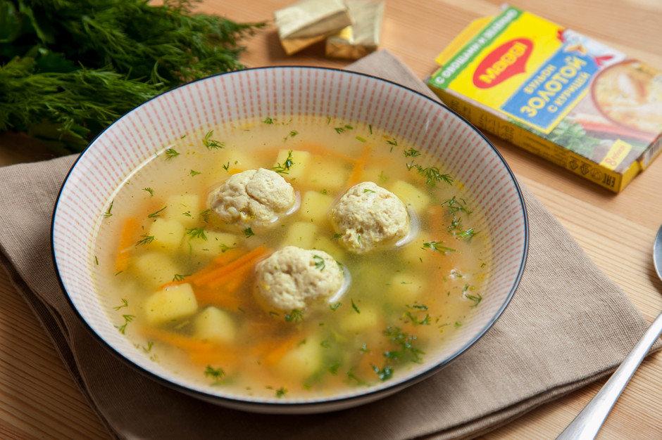 Суп с фрикадельками пошаговый рецепт с куриного фарша18