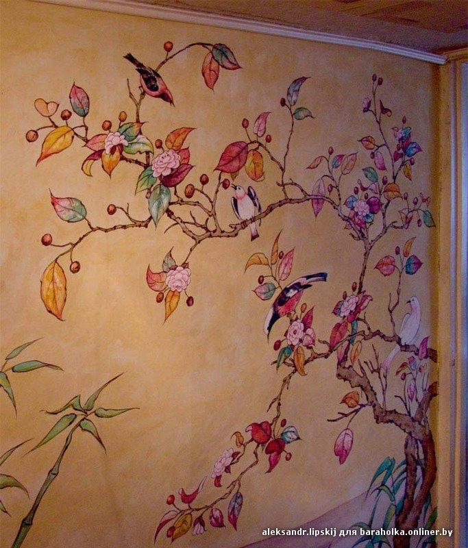 Рисунки на стенах в квартире - своими руками, 88 фото, в