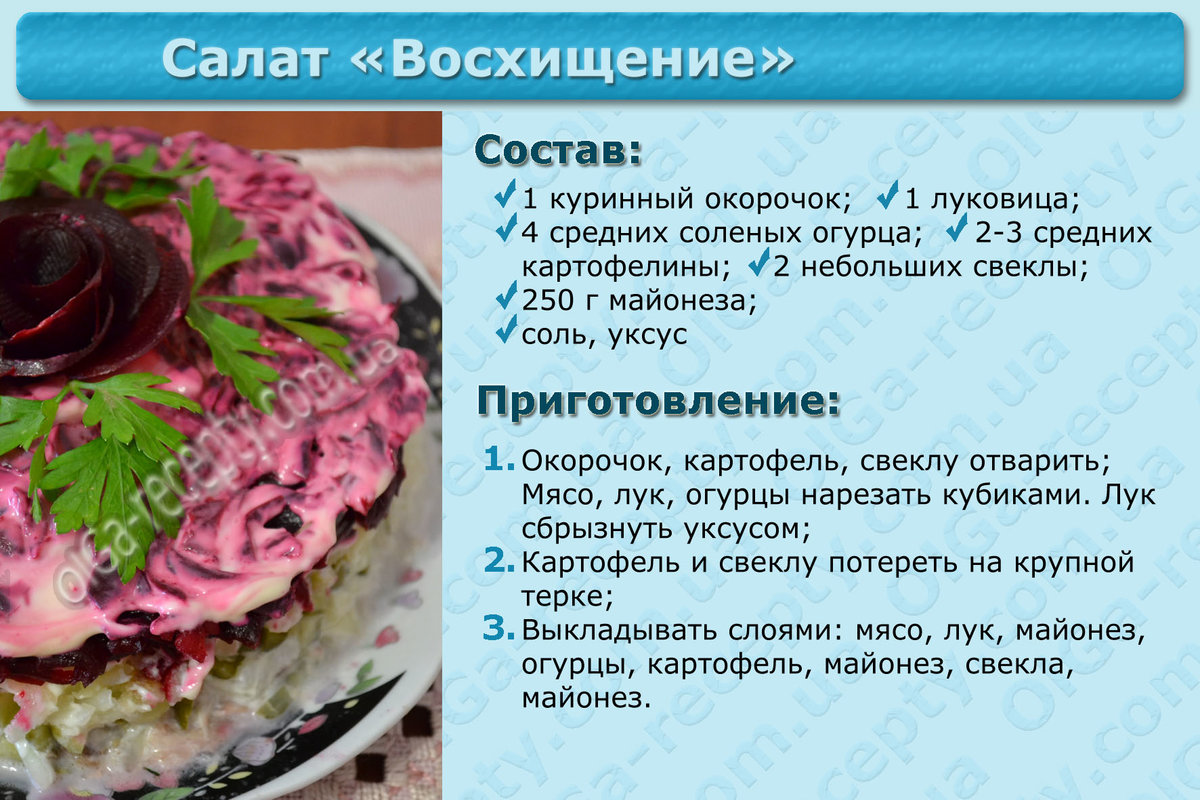 Рецепты с пошаговым для печати