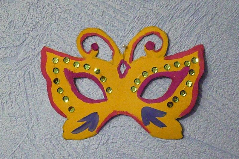 Новогодняя маска из бумаги