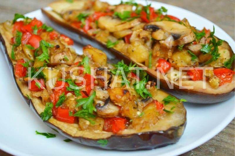 Баклажаны фаршированные рецепты с пошагово