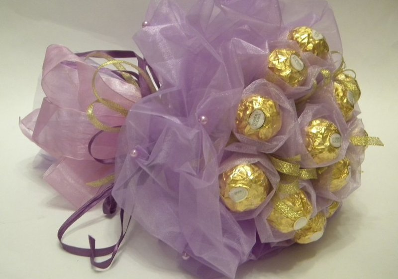 Сладкий букет конфет своими руками