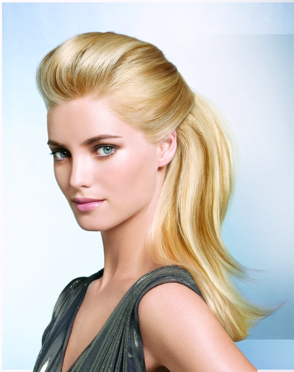 Прическа начес ровные волосы