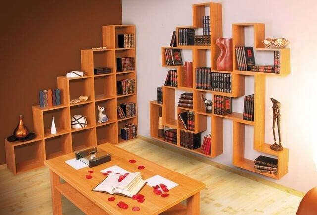 Напольные полки для книг своими руками