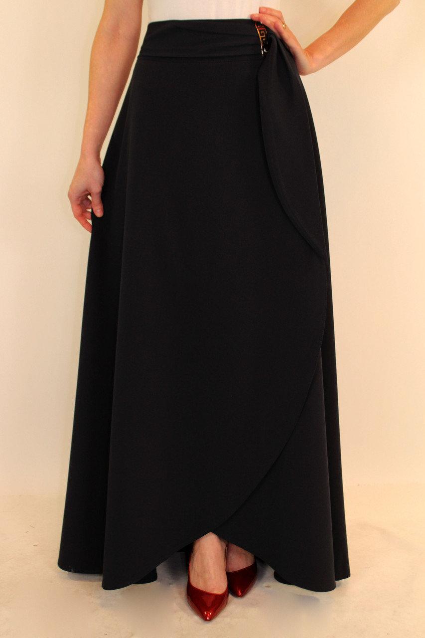Длинная юбка с запахом 151