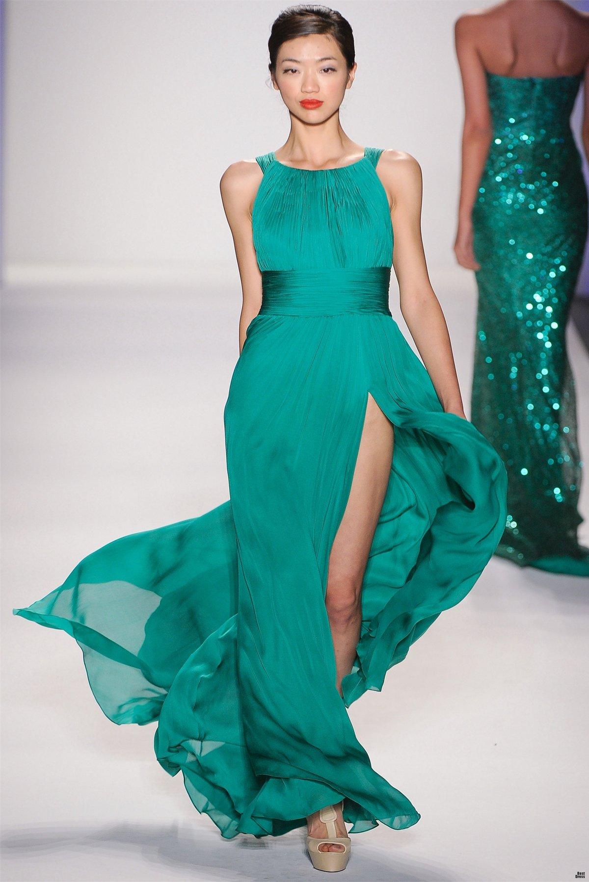 Фото моделей в платье в пол