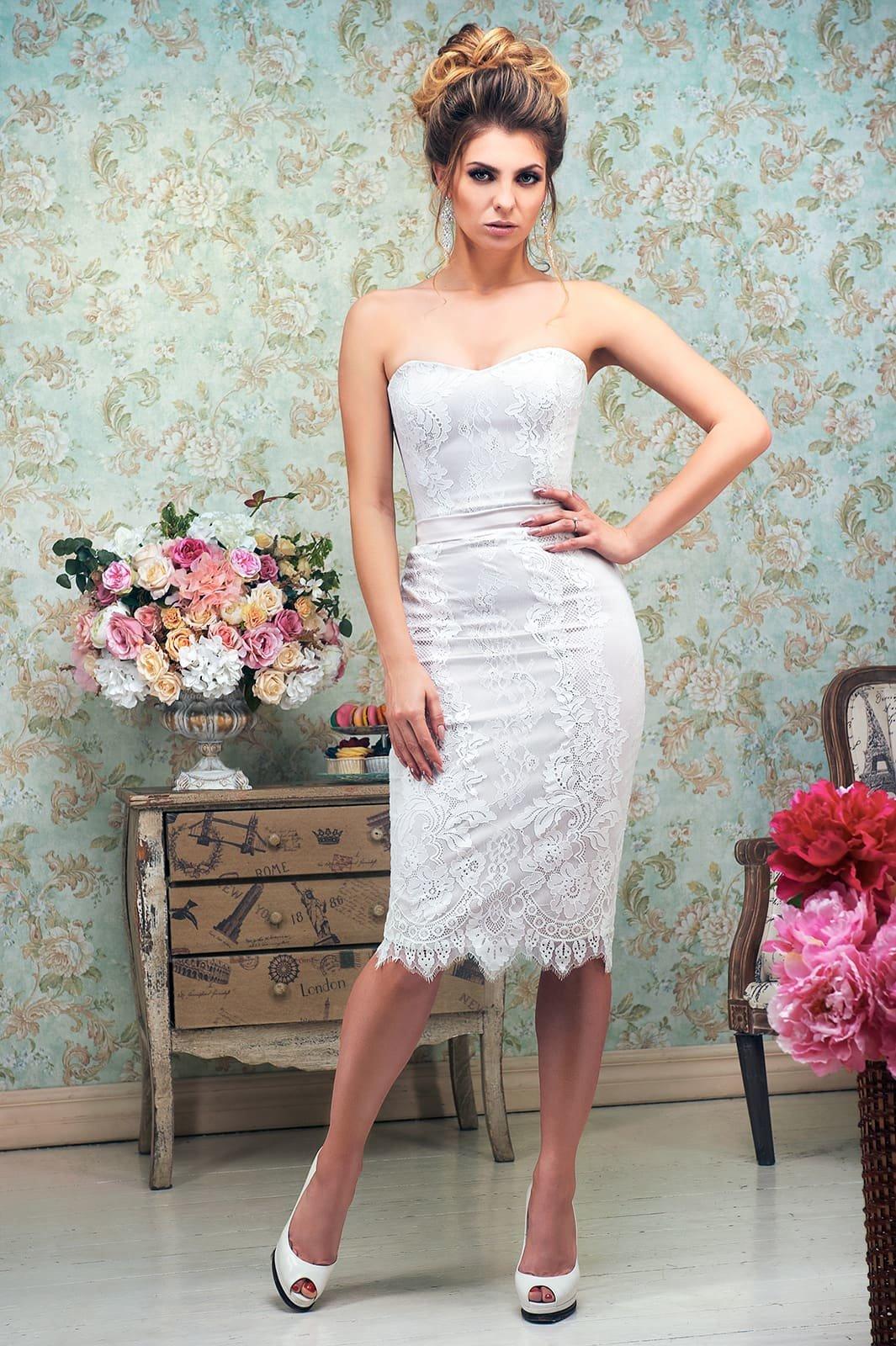 Платье свадебное футляр 4