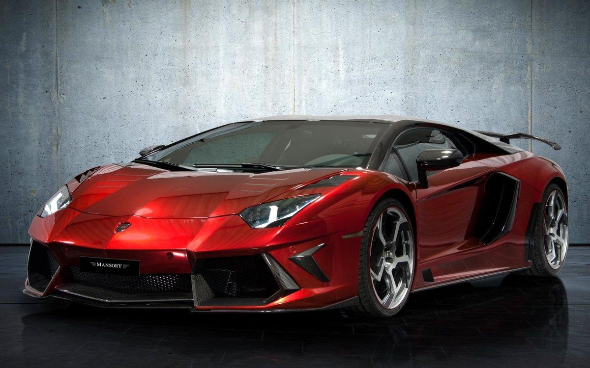 спортивный автомобиль красный lamborghini  № 719783 бесплатно