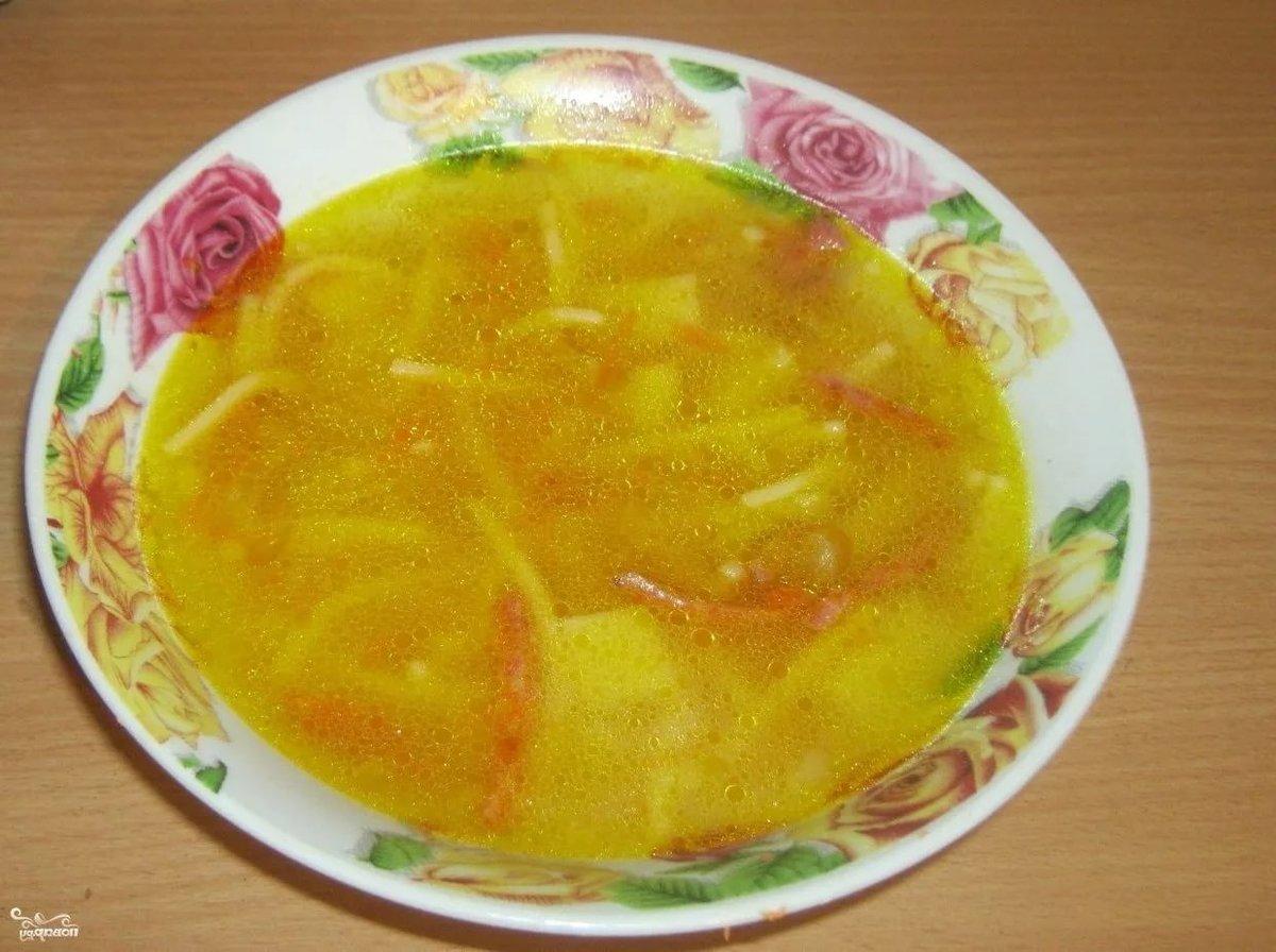 Суп куриный с картофелем и вермишелью пошаговый рецепт с фото