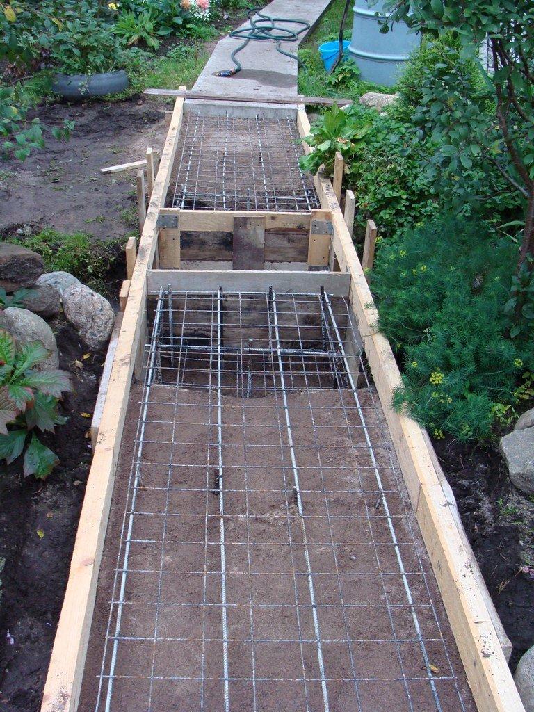 Дорожки для сада своими руками из бетона 279