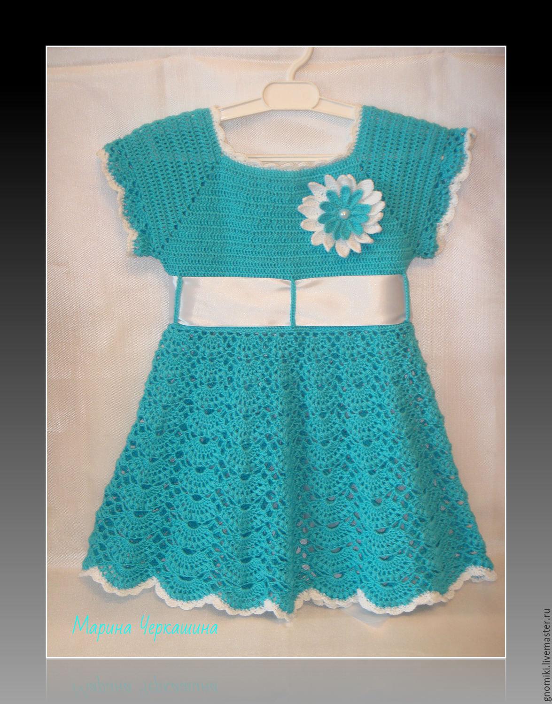 Как украсить вязаное платье для девочки своими руками 61