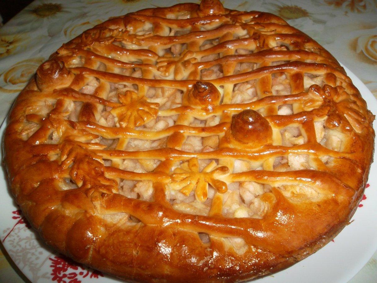 Пироги пресные с яблоками рецепт с пошагово в духовке