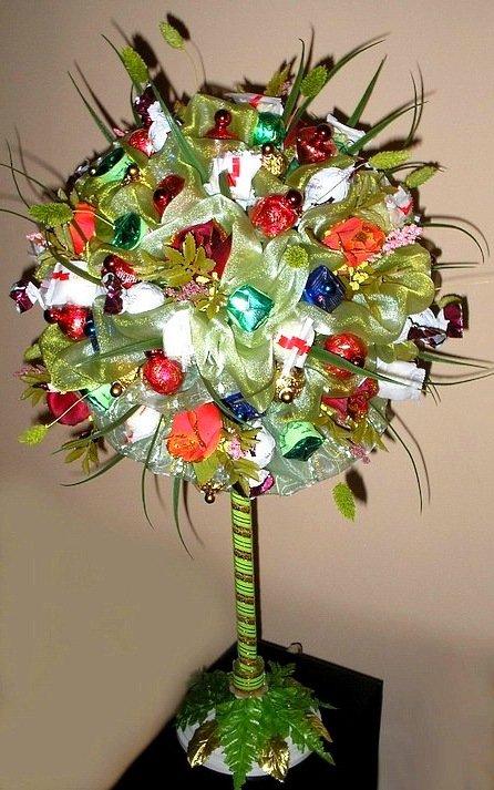 Дерево из конфет своими руками мастер класс 75