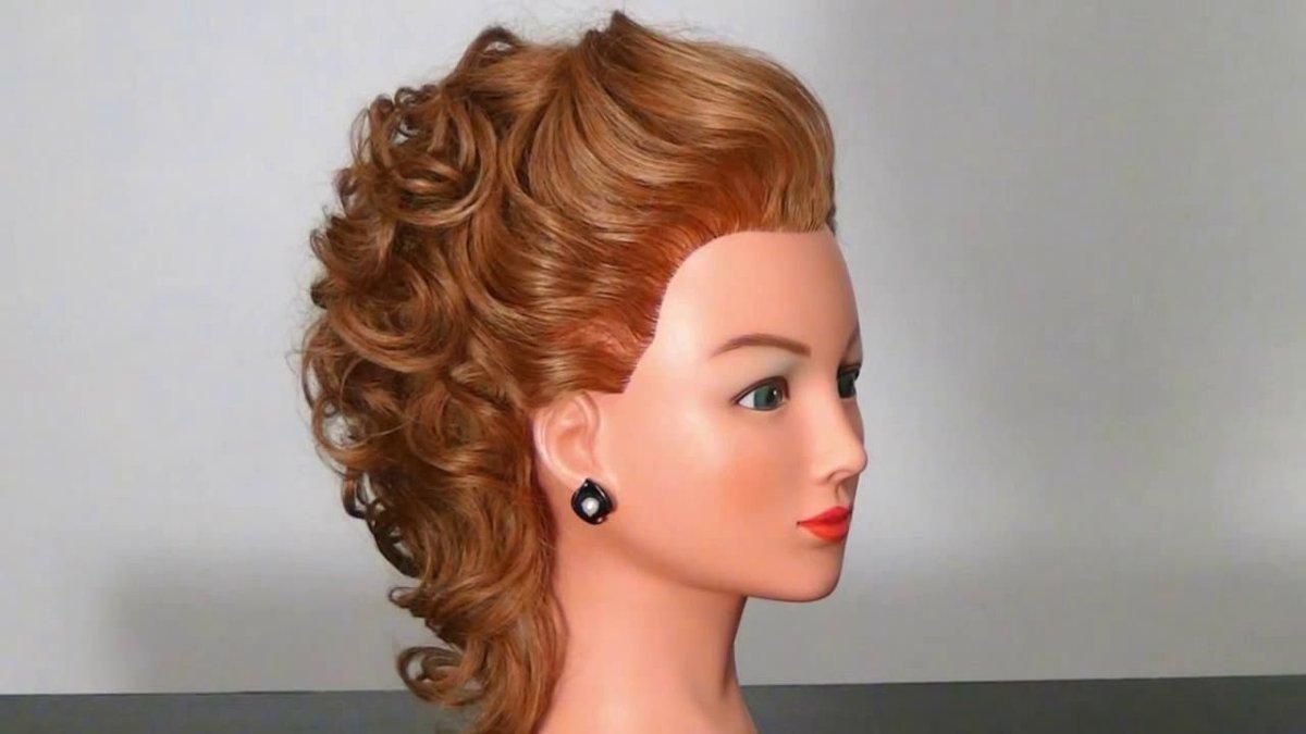 Прически на среднюю длину волос для конкурса