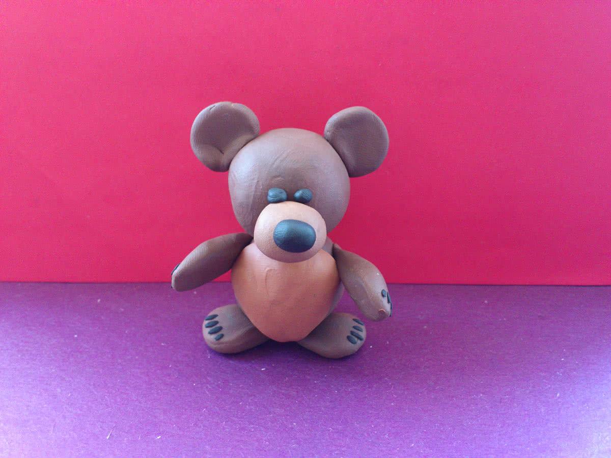 Олимпийский мишка из соленого теста своими руками