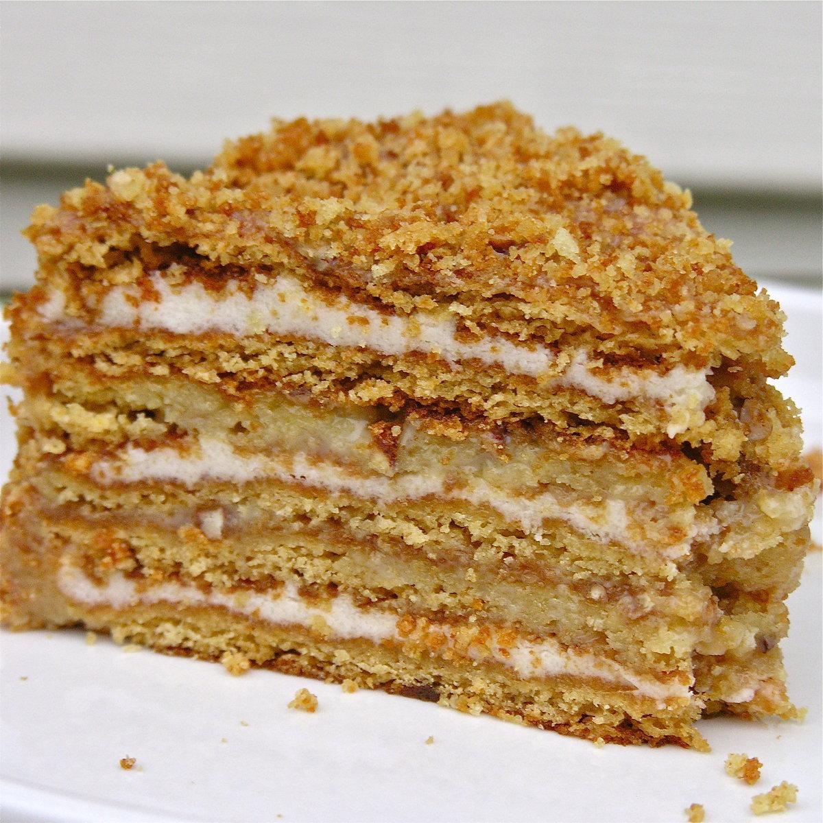 Торт со сгущенкой и сливками рецепт