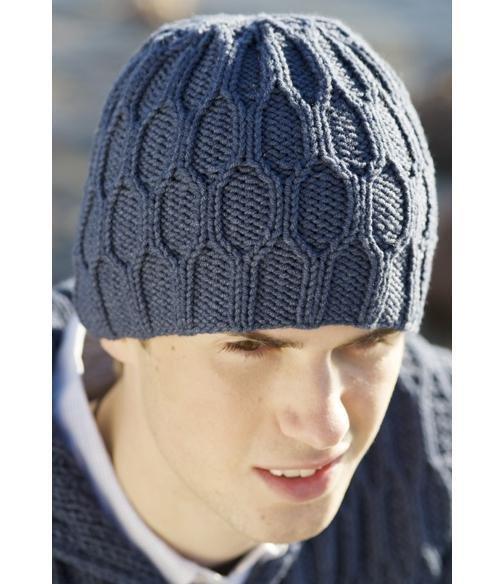 Вязание шапок спицами для мужчин модные модели 2018 57
