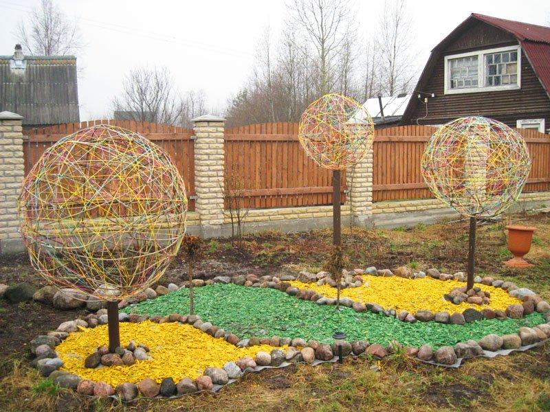 Как сделать садовые украшения своими руками 23