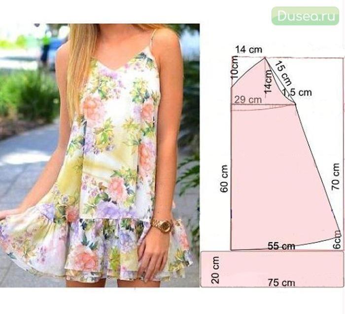 Сшить простые платье выкройка фото 897