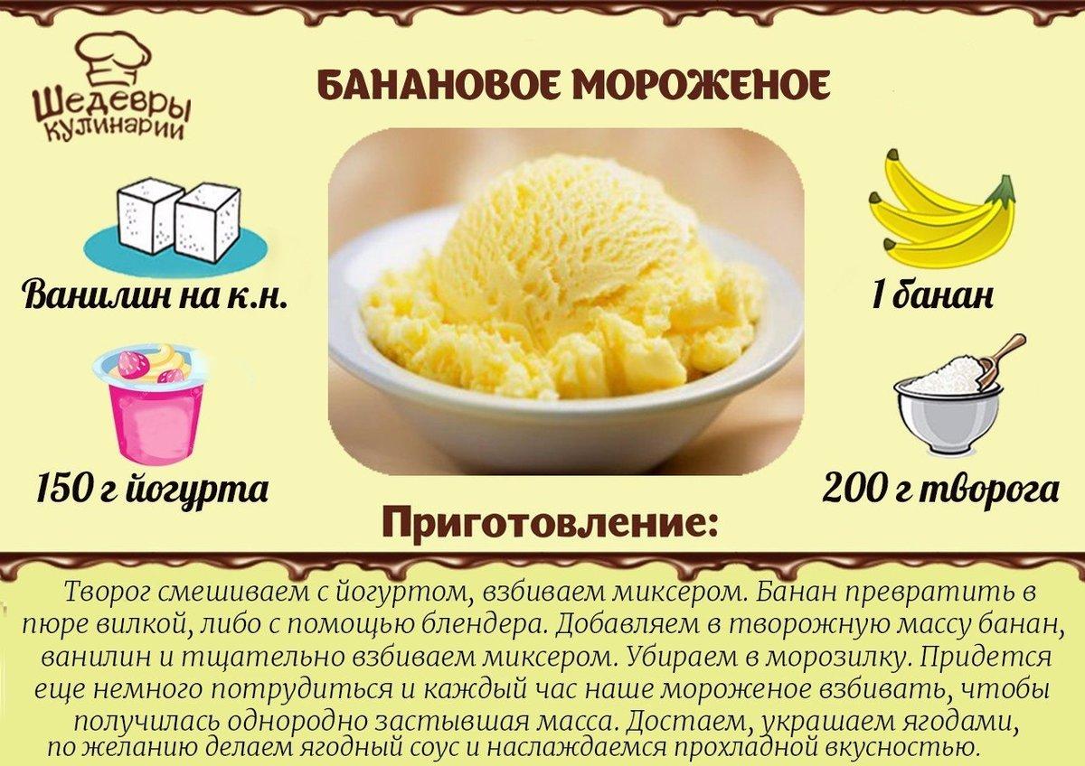 Мороженое своими руками рецепт без сливок