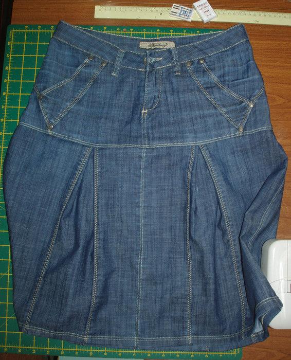 Сшить юбку джинсы руками