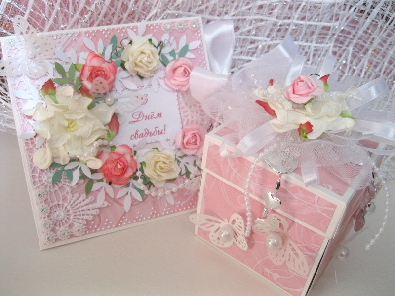 Коробка открытка своими руками на свадьбу 1