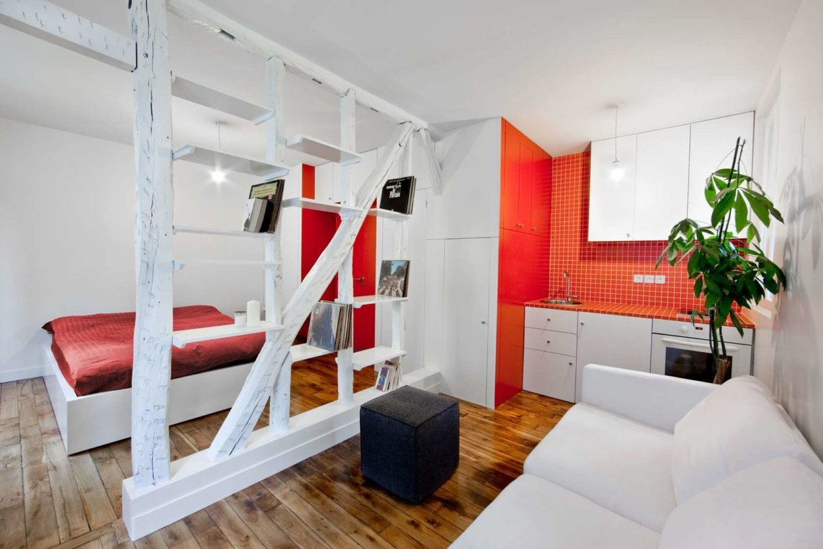 Интерьер маленькой квартиры 90
