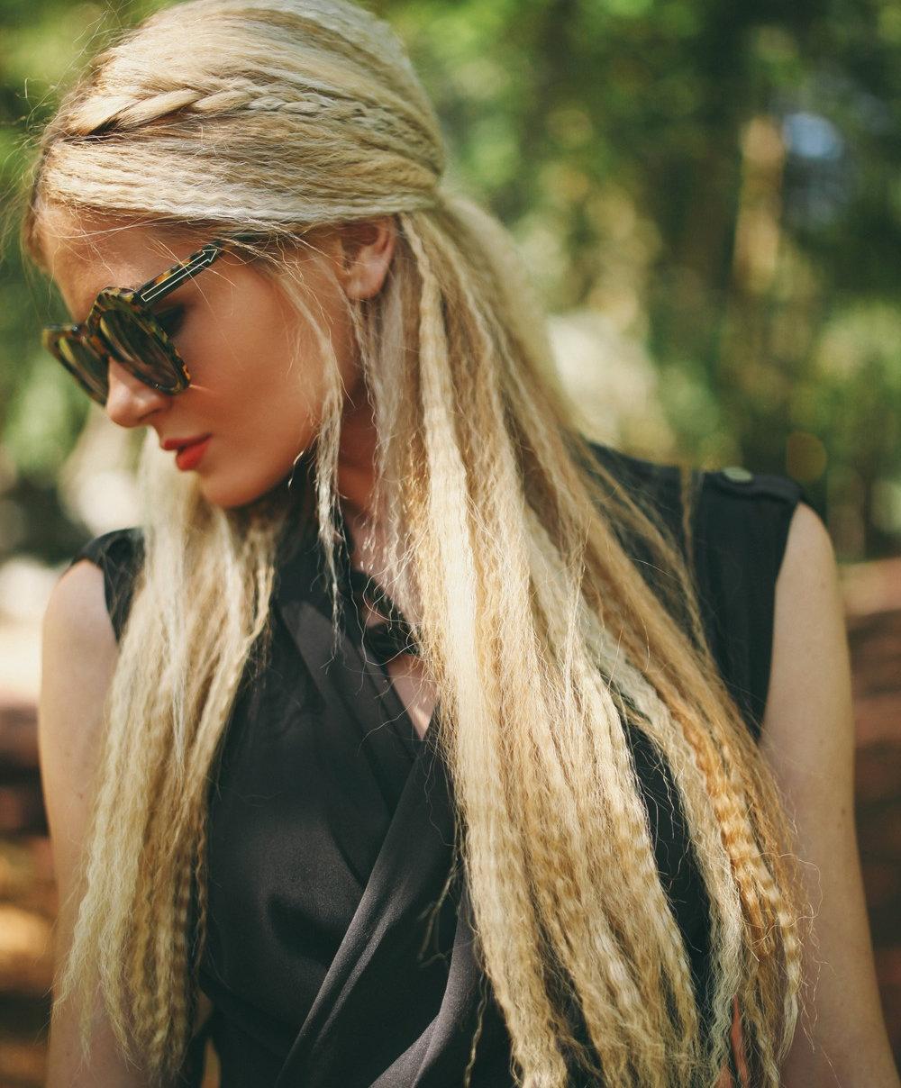 Фото прически гофре средние волосы