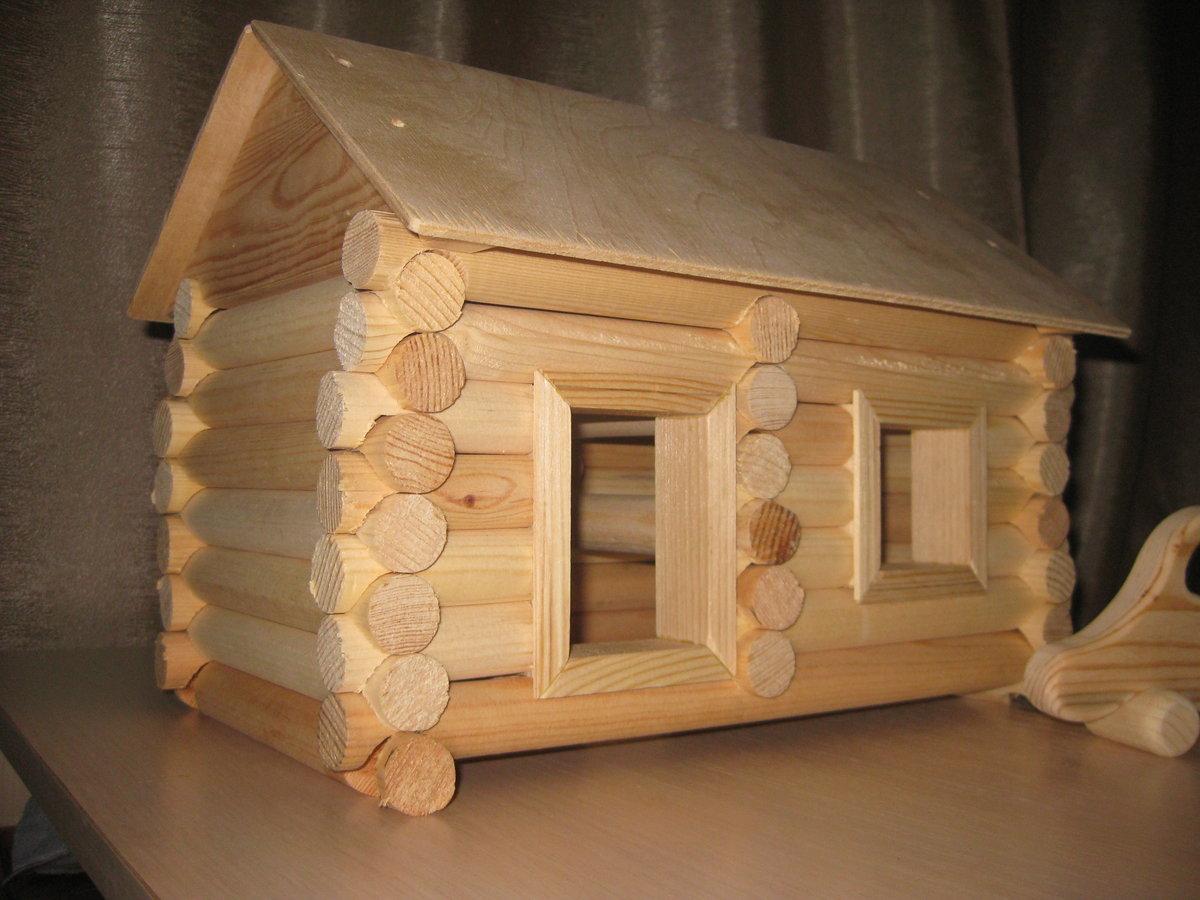 Домики из дерева маленькие своими руками 88