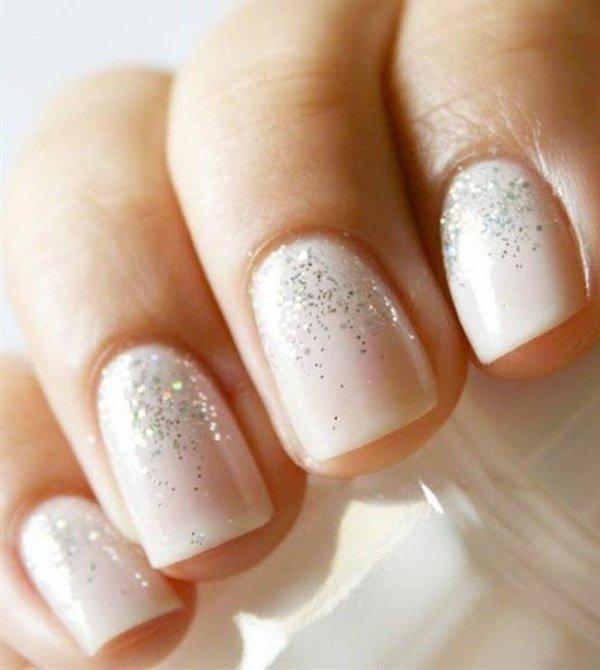 Маникюр на коротких ногтях свадебный своими руками 29