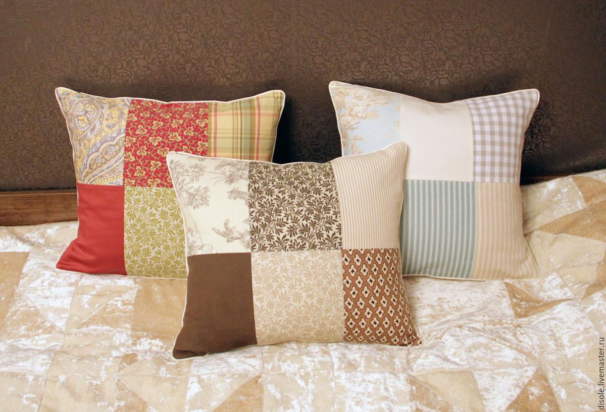 Маленькие подушки на диван своими руками
