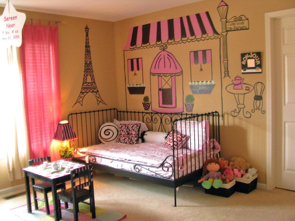 Оформить детскую комнату для девочек своими руками 29