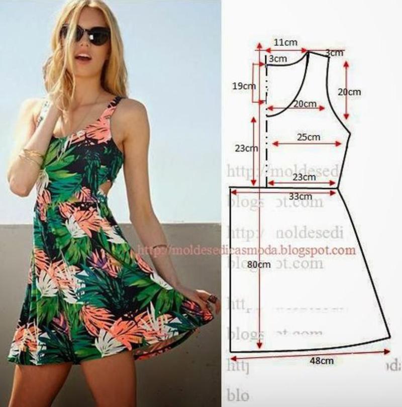 Как сшить летние платье своими руками для начинающих выкройки