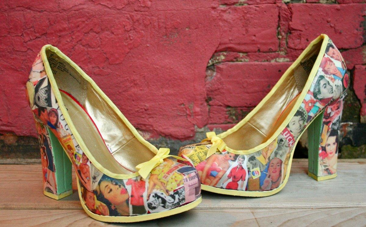 Винтажная обувь своими руками