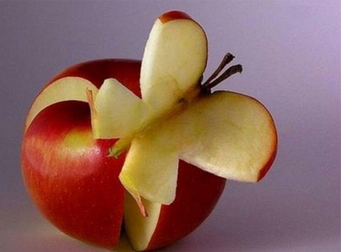 Поделка из свежего яблока 824