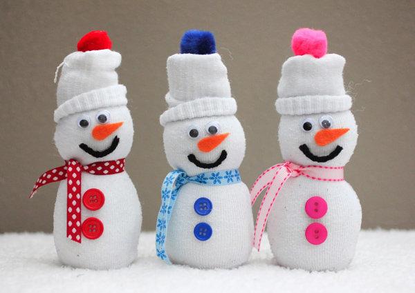 Как бы сделаете снеговик своими руками