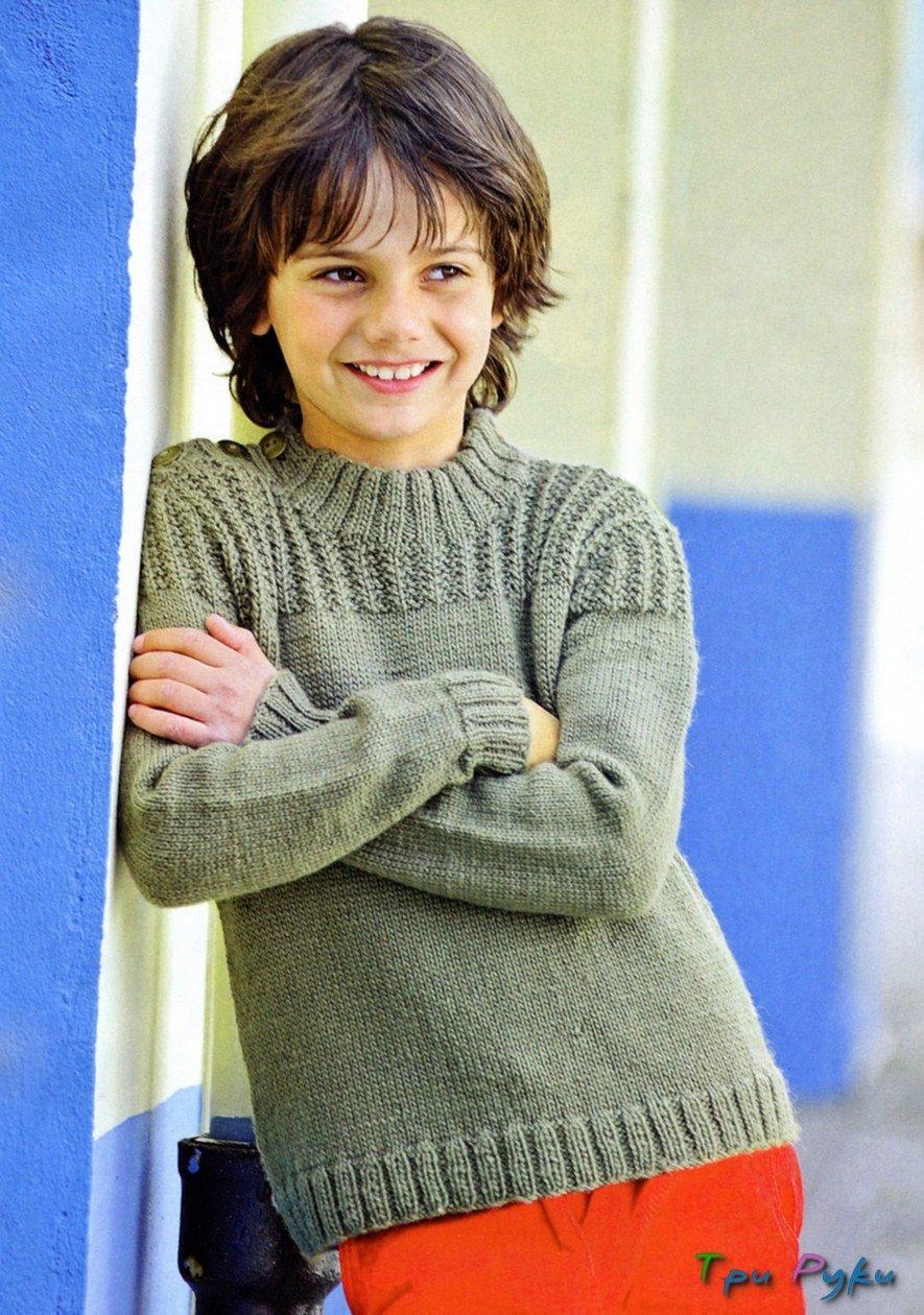 Пуловер для подростка вязание 82