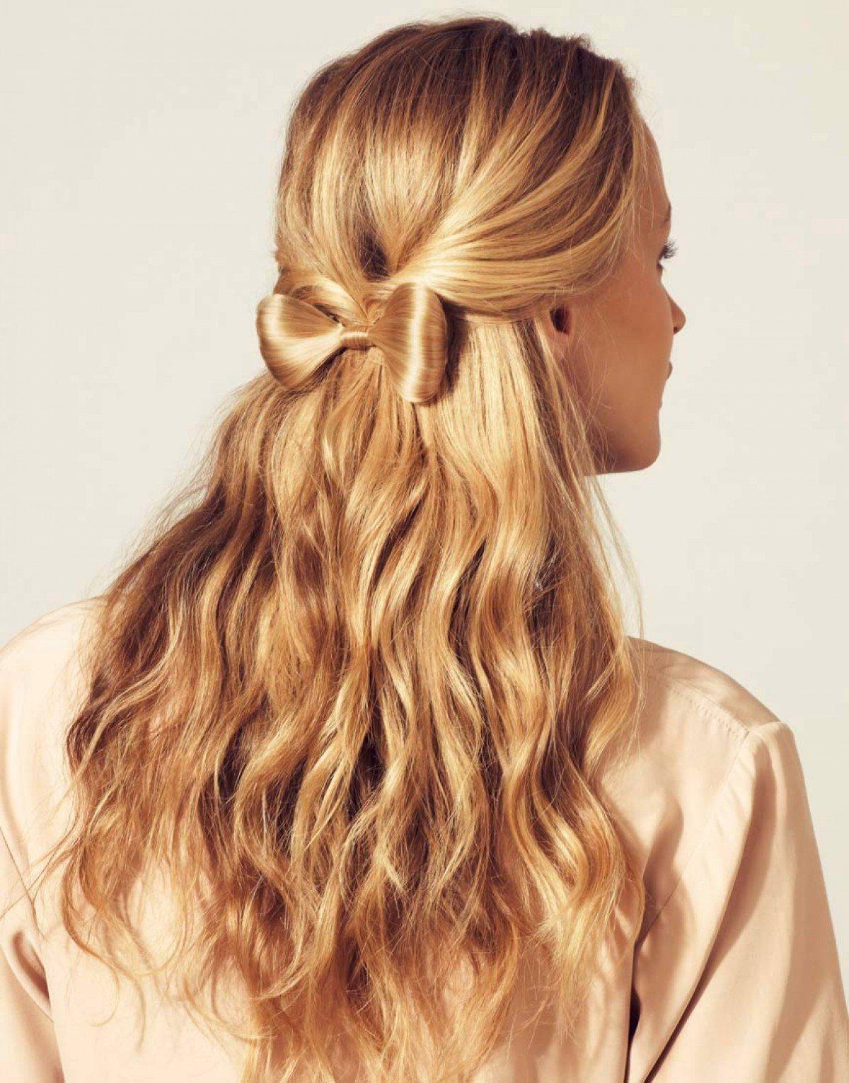 Прически на длинные распущенные волосы на каждый день
