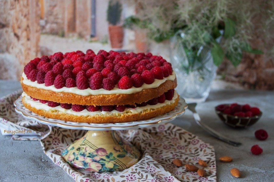 Как сделать малиновый торт летний в моей кофейне 753
