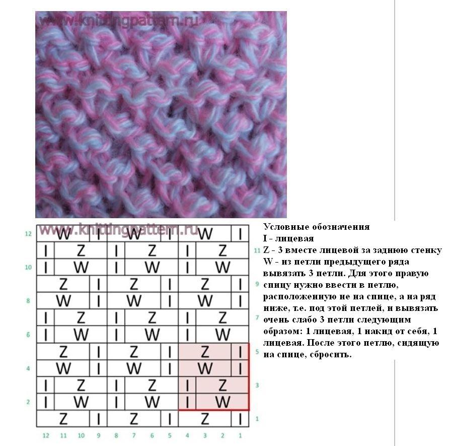 Вязание спицами плотные простые узоры 4