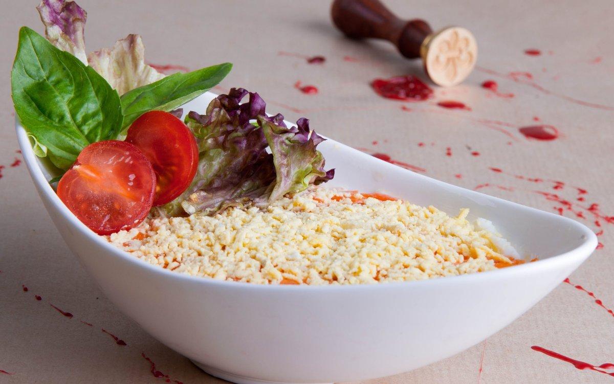 Салат мимоза с печенью трески рецепт с классический