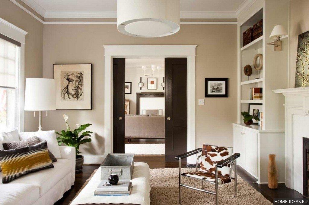 Гостиная с дверями дизайн 157