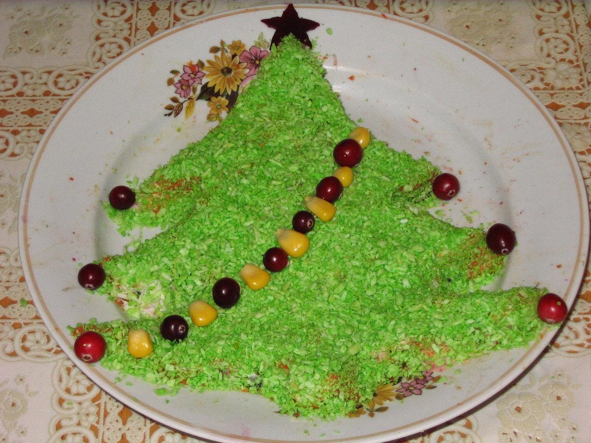 Салат елка рецепт