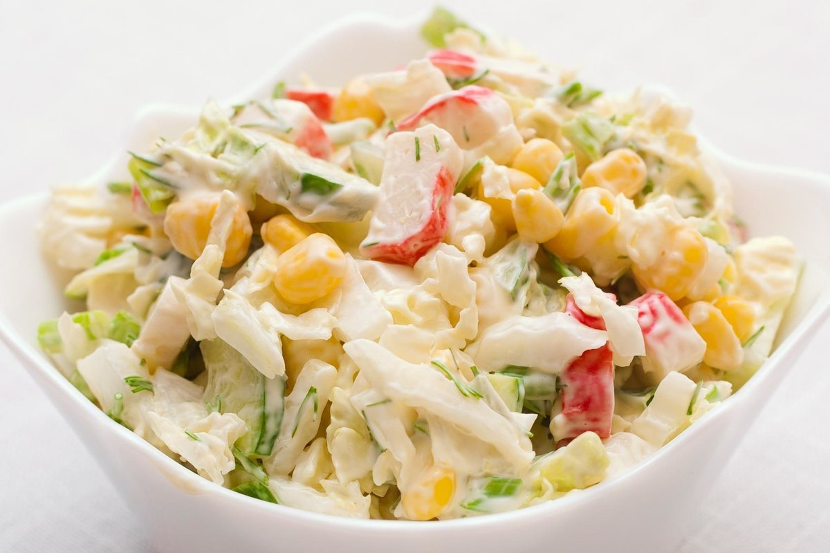 Салат в домашних условиях с кукурузой 509